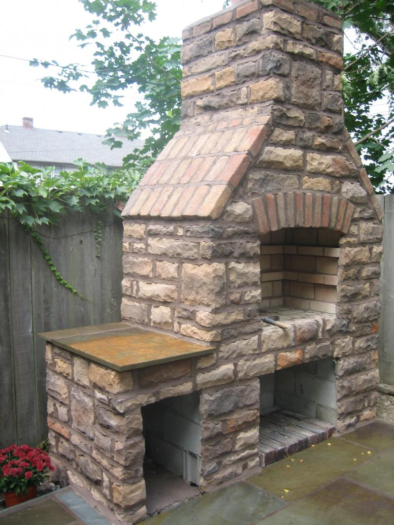 Outdoor Stone Grill Designs Ideas