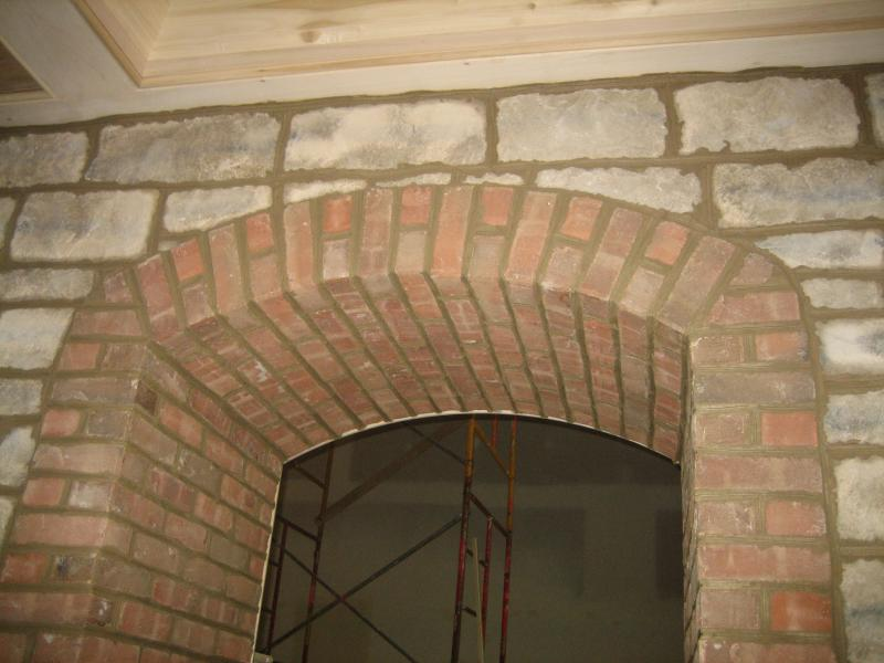 Thin Brick Great Lakes Stone Arched Doorway