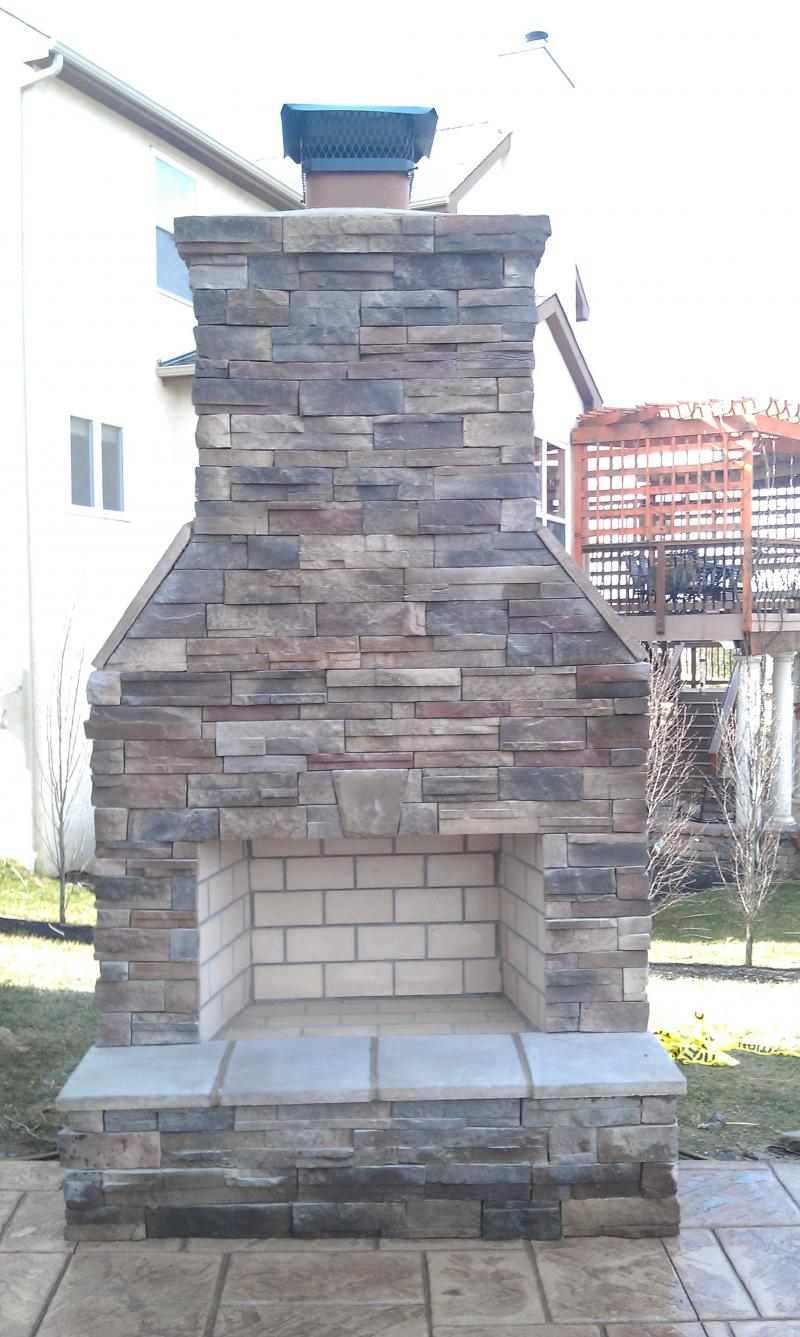 GBR Masonry, Inc. - Exterior Fireplaces